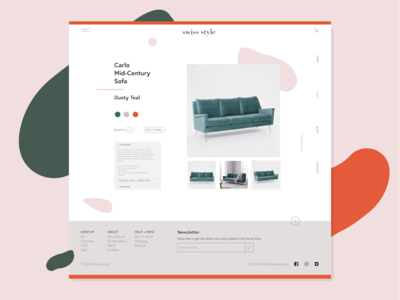 Swiss Style Website Inner Page Swiss Style Fashion Website Website Design