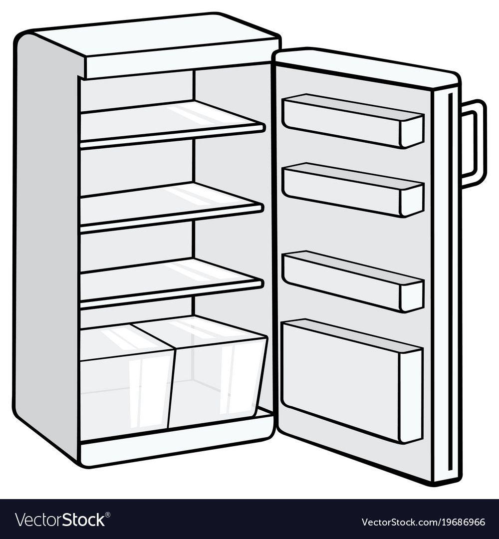 Opened White Fridge Illustration Download A Free Preview Or High Quality Adobe Illustrator Ai Eps Pdf And Hig White Fridges Interior Design Furniture Fridge