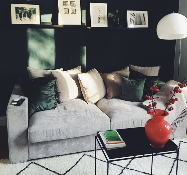 Samtsofa Cooper 3 Sitzer Grau Wohnzimmer Einrichten Moderne Couch Haus