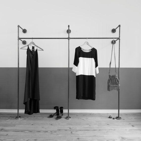 Best Offener Kleiderschrank Kleiderschrank Kleiderst nder Regal Stahlrohr Wandgarderobe Garderobenst nder Garderobenstange x DUO HIGH