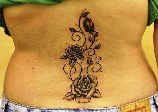 Vine Rose Tattoo Lower Back - Mociarane.com   Vine tattoos, Floral tattoo, Tattoos with meaning