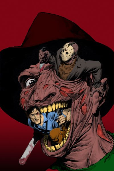 Freddy Vs Jason Vs Ash by Ulla-Andy