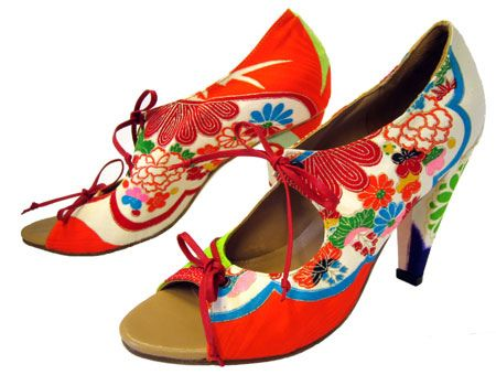 d102fae5627 Hetty Rose handmade shoes constructed from vintage kimono fabric ...