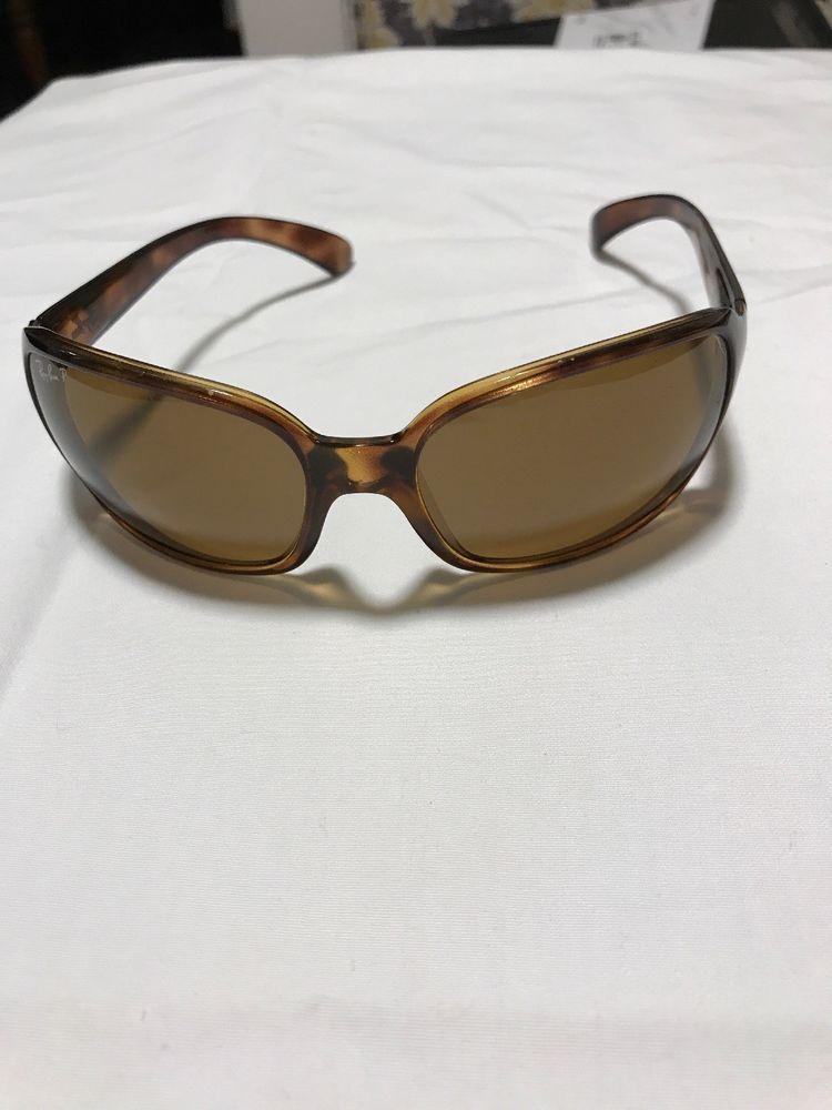 Ray-Ban Womens Light Brown  Tortoise  Polarized Large Sunglasses RB4068   fashion   0428432f44ca