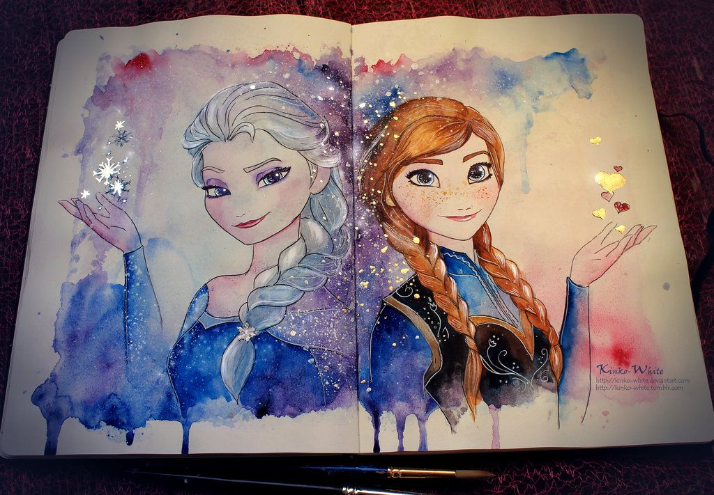 An amazing painting of my sister and I by Kinko-White on deviantART