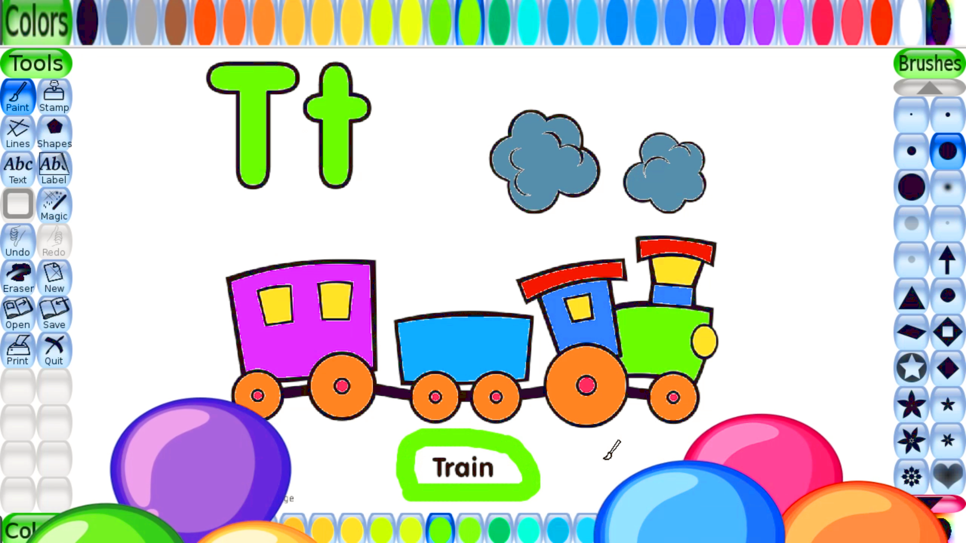 Free Coloring Pages For Kids Free Printables To Color Train And Alphabet Letter T Train C Printables Free Kids Coloring Pages For Kids Train Coloring Pages