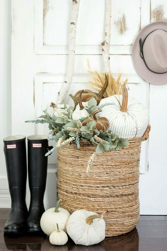 Use \u201carrangement baskets\u201d to allow customers to choose the plants - fall halloween decorating ideas