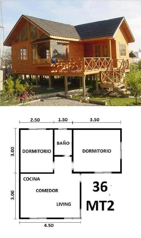 Modelo caba a rancho sjm planos de casas casas y for Modelos cabanas rusticas pequenas