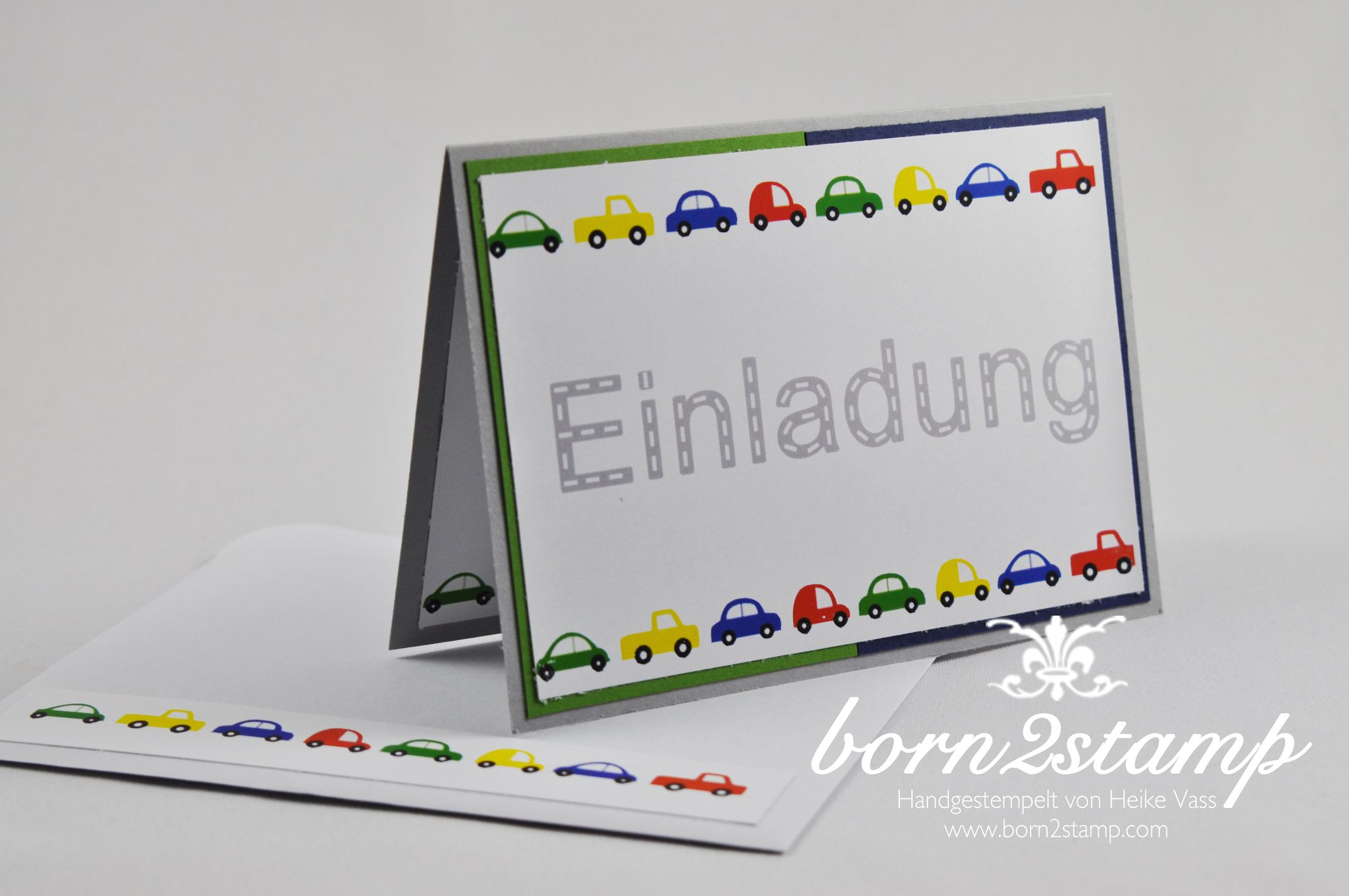 STAMPIN' UP! Einladungskarte Auto Punch Art