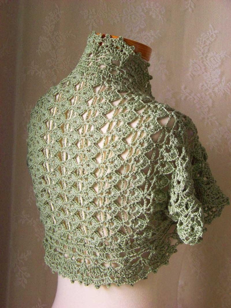 Home Images Crochet Pattern Short Sleeved Shrug Pdf Crochet Pattern