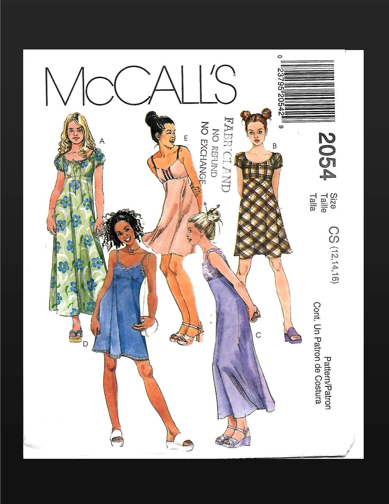 McCall/'s 270 470 Misses/' Dresses      Sewing Pattern