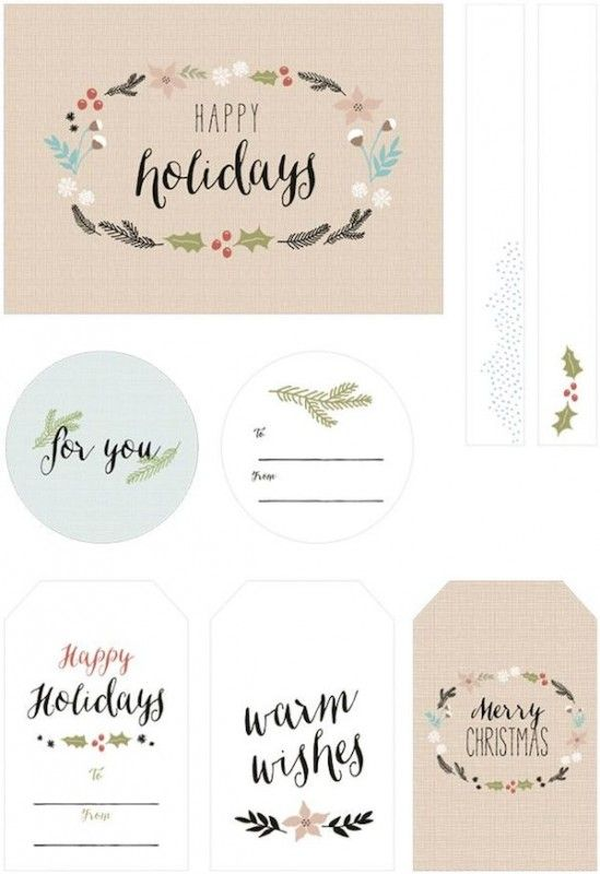 Free printable gift tags pinterest negle Gallery