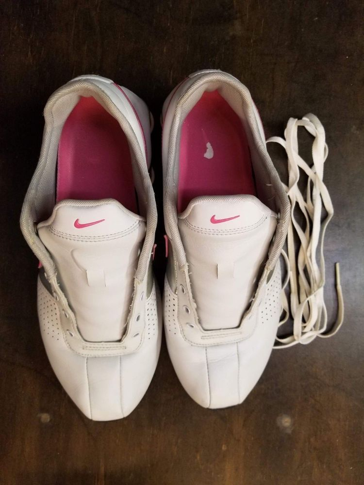Womens Nike Shox Deliver Tennis Shoes White Pink 317549-160 Sz 8.5  fashion   clothing  shoes  accessories  womensshoes  athleticshoes (ebay link) 128293104