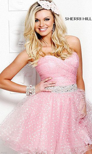 Short Pink Junior Prom Dresses Semi Formal Pink Dresses Promgirl