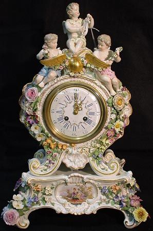 Meissen Cherub Clock Antique Clocks Vintage Clock Beautiful