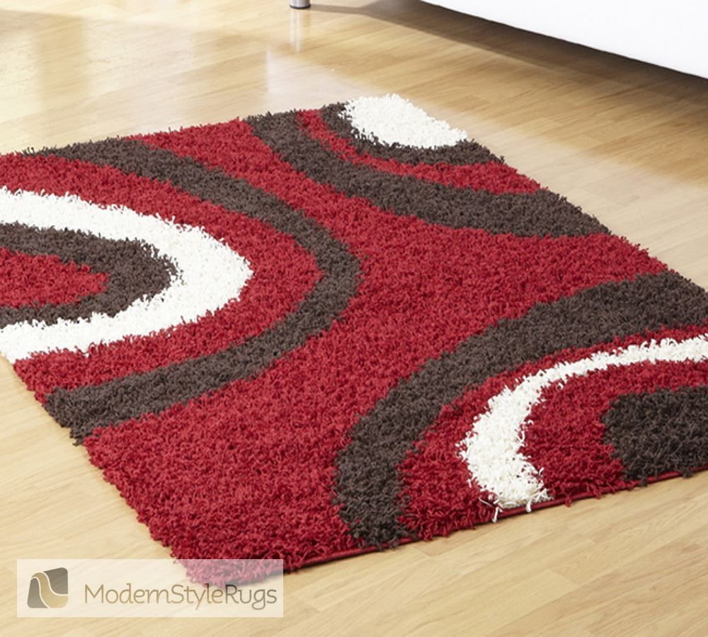 Mont Blanc Mb13 Red Modern Style Rugs Tapetes Talagar A