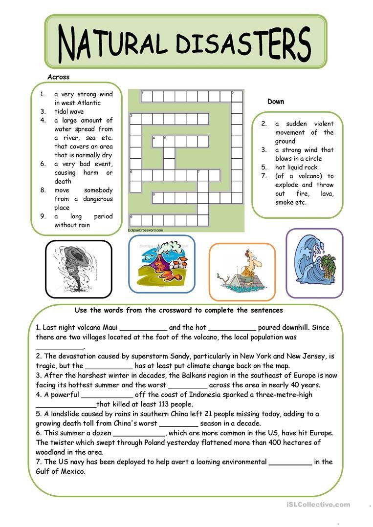 Natural Disasters Worksheet Free Esl Printable Worksheets Made By Teachers Natural Disasters Lessons Natural Disasters Activities Natural Disasters