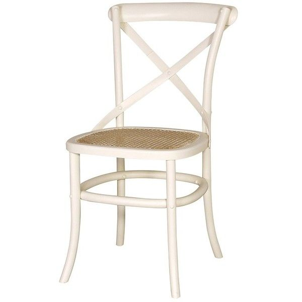 Cream Cross Back Dining Chair £89 Via Polyvore Featuring Home Interesting White Kitchen Chairs Decorating Design