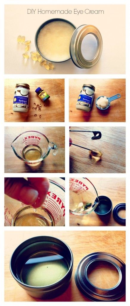DIY Homemade Best Anti Aging Eye Cream #diybeauty