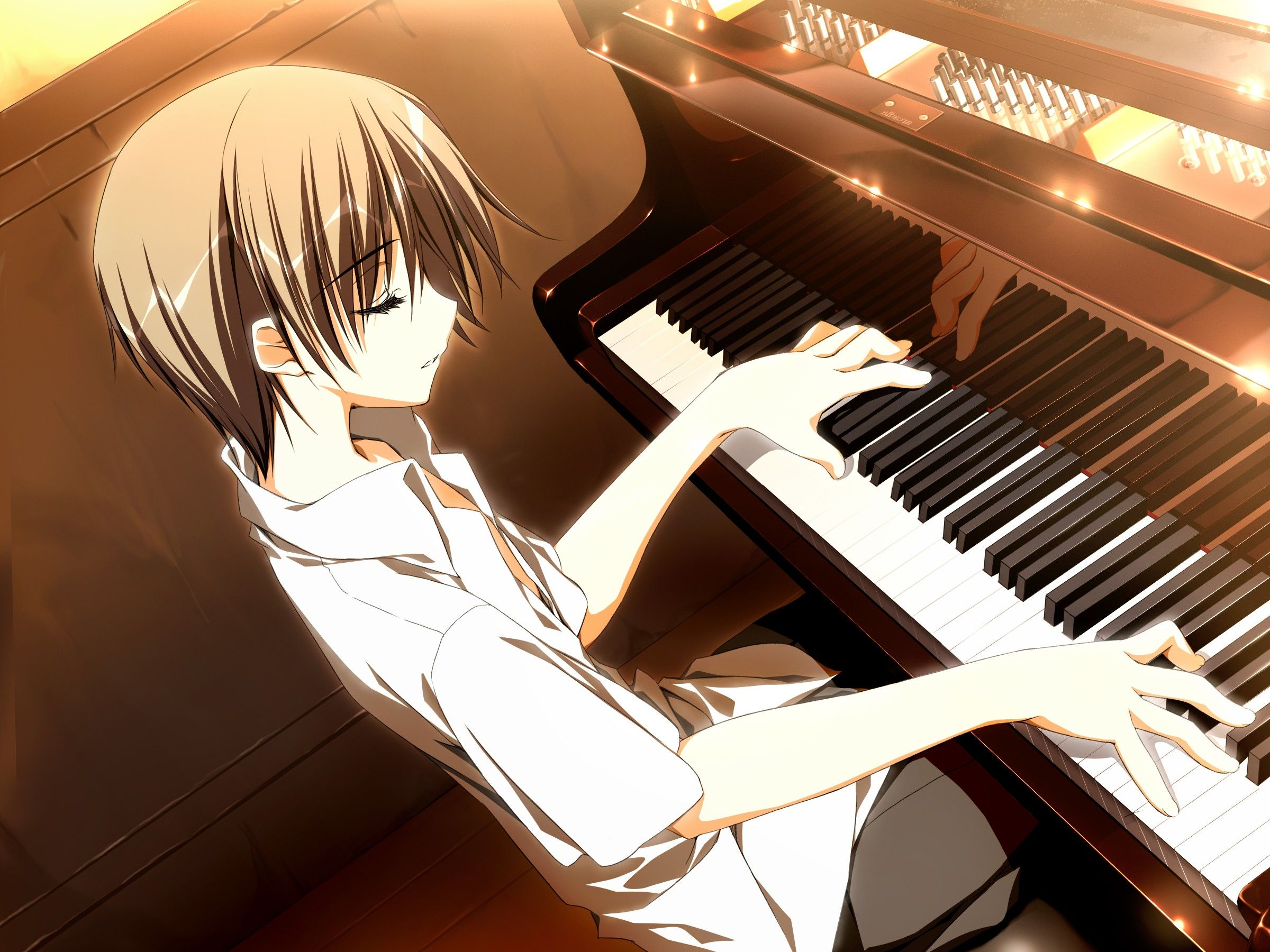 music anime wallpaper guy play piano Artes Pinterest