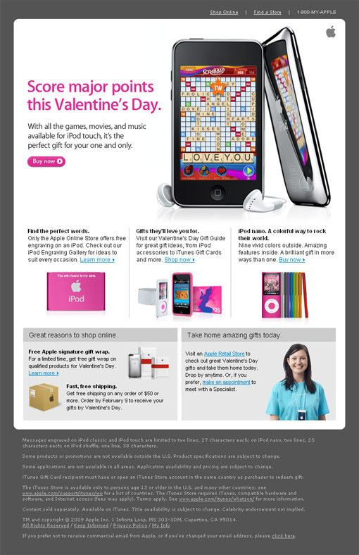Valentines Day Email Newsletter DesignDesign Newsletter