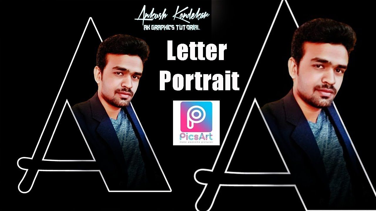 PicsArt Letter Portrait Picsart logo design How to
