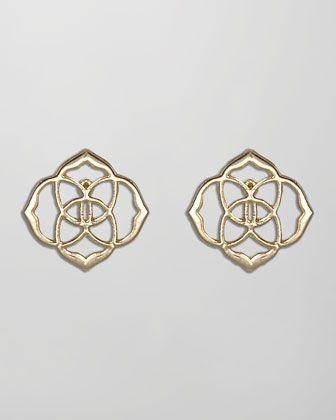 da4b466b3 Dira Stud Earrings, Gold by Kendra Scott at Neiman Marcus. | style ...