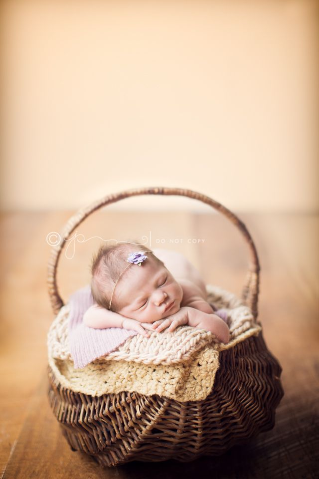 Newborn Photography Basket Poses