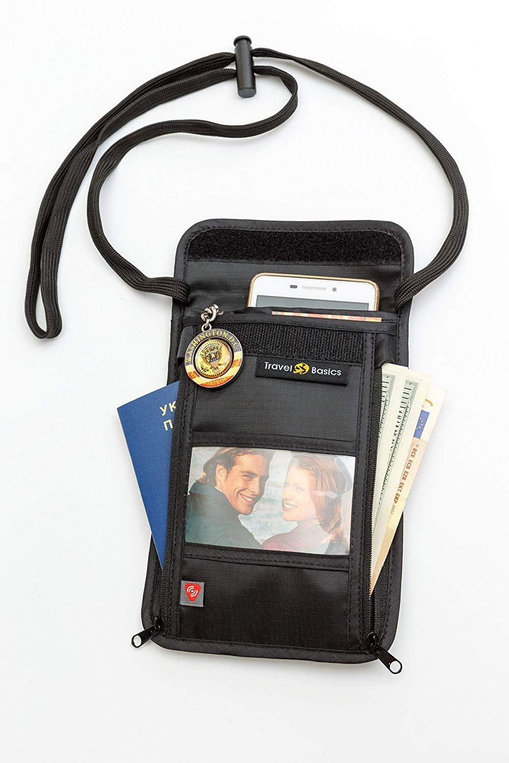 282452458f02 Travel Neck Wallet Passport Holder with RFID blocking - 1 Neck Stash ...