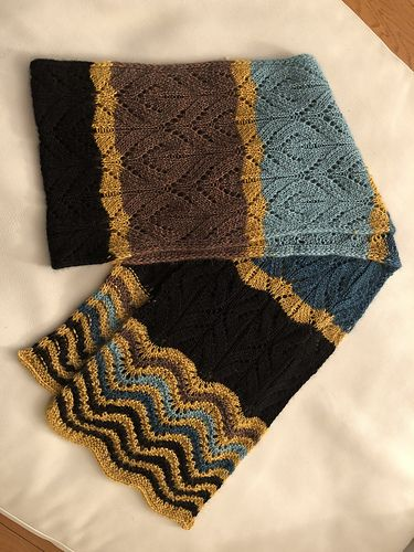 Free Pattern Magnificent Striped Scarf Knitcrochet Scarves