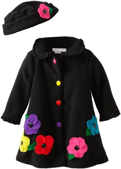 9fd6ba60e7ef Amazon.com  Bonnie Baby Baby-Girls Infant Fleece Coat and Hat Set ...