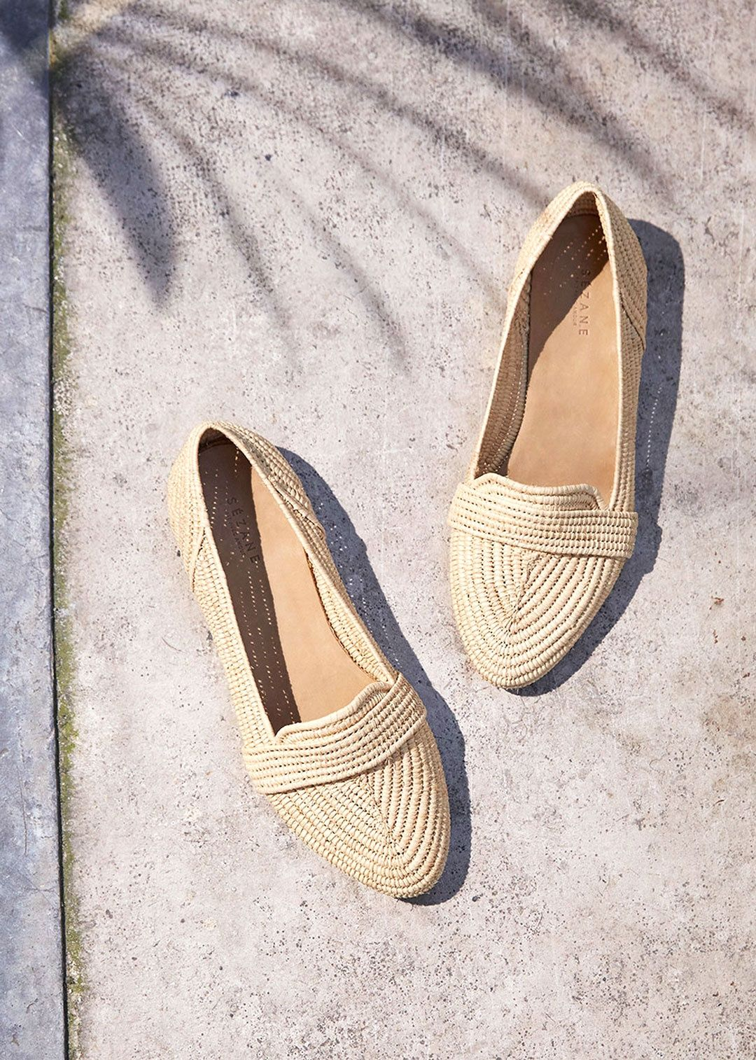 eeed3cb2ea03 Sezane Spring 2017 Mayfair Raffia flats | Summer Style | Fashion ...