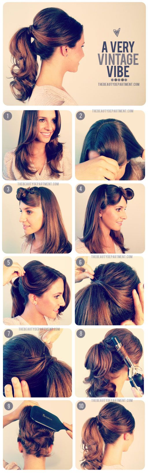 Old fashioned pony tail swing dancers perfectlypaired hair