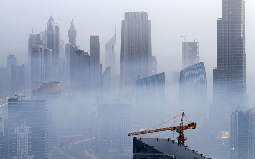 Dubai S Fog Makes A Skyscraper City In The Clouds Skyline Dubai Beautiful Photos Of Nature