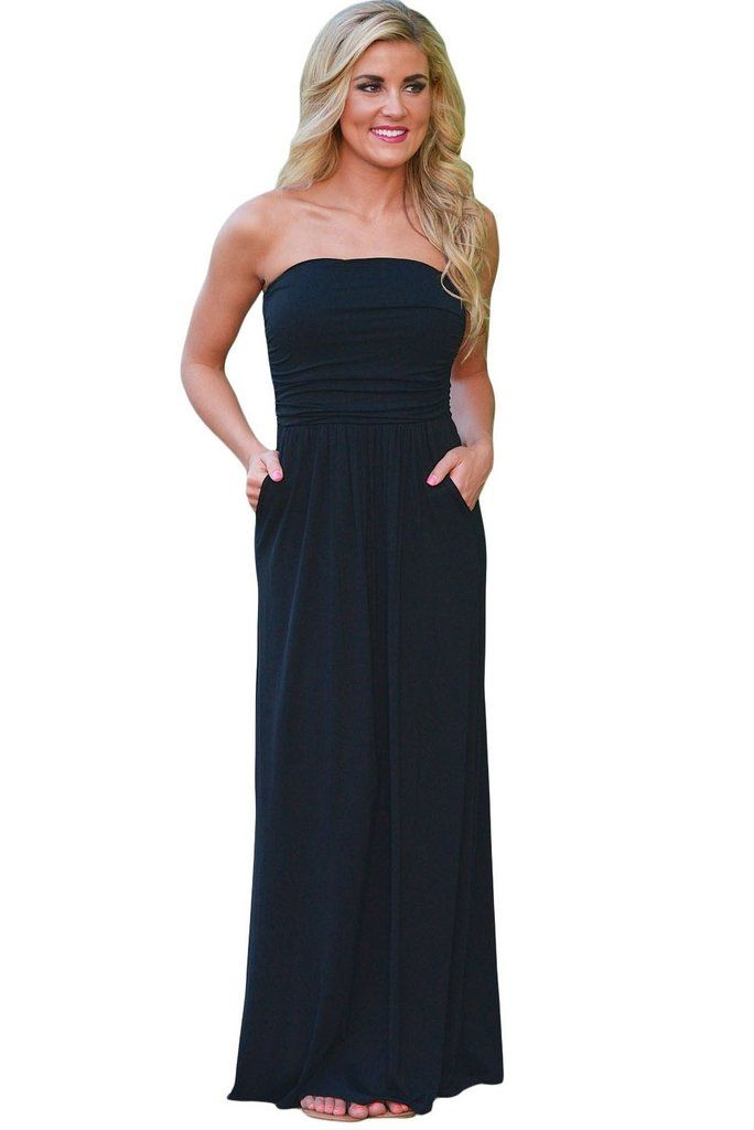 7ebb97ab51b Robe longue bustier noire ete – Site de mode populaire