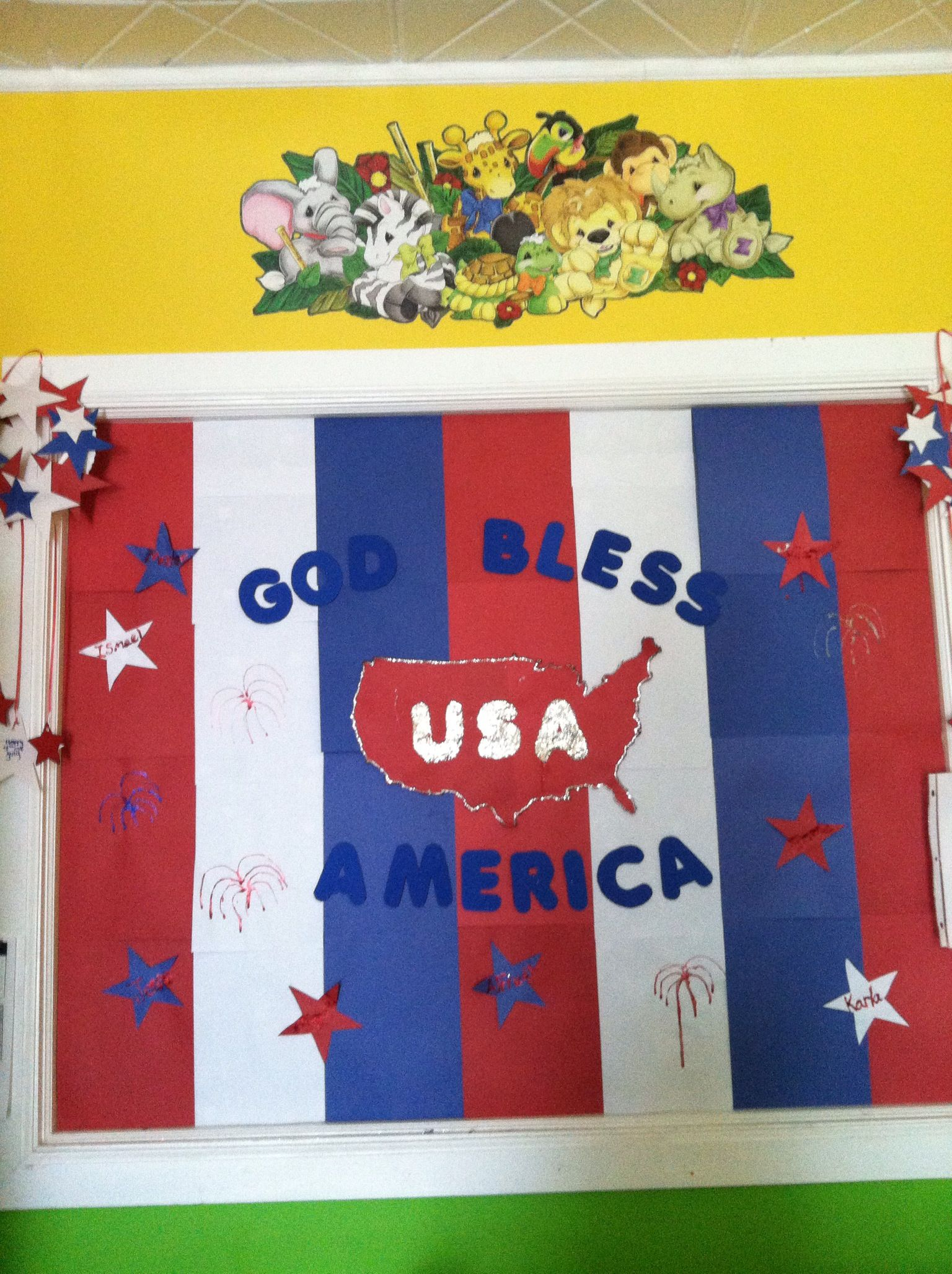 4th Of July Door Decorations Classroom
