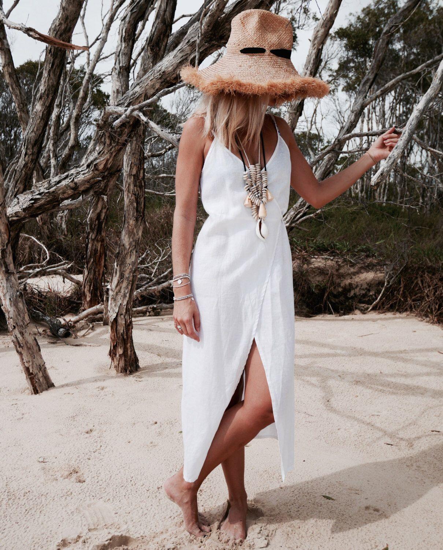 Wrap Dress White Linen Wrap Around Dress Beach Dress Ladies Fashion By Ljcdesignss On Etsy Https Www Wrap Around Dress Fashion Clothes Women White Dress [ 1500 x 1210 Pixel ]