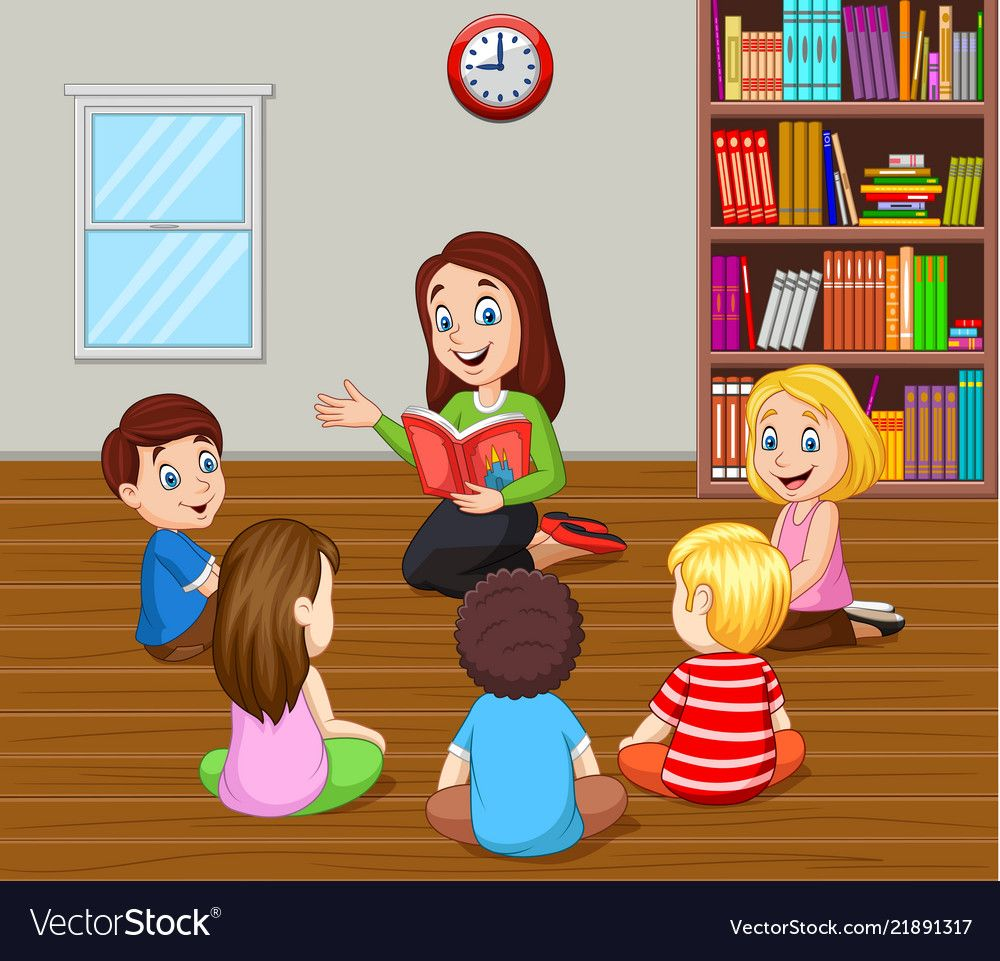 Illustration Of Teacher Telling A Story To Kids In The Classroom Download A Free Preview Or High Quality Adobe Il Teacher Images Art Classroom Teacher Picture
