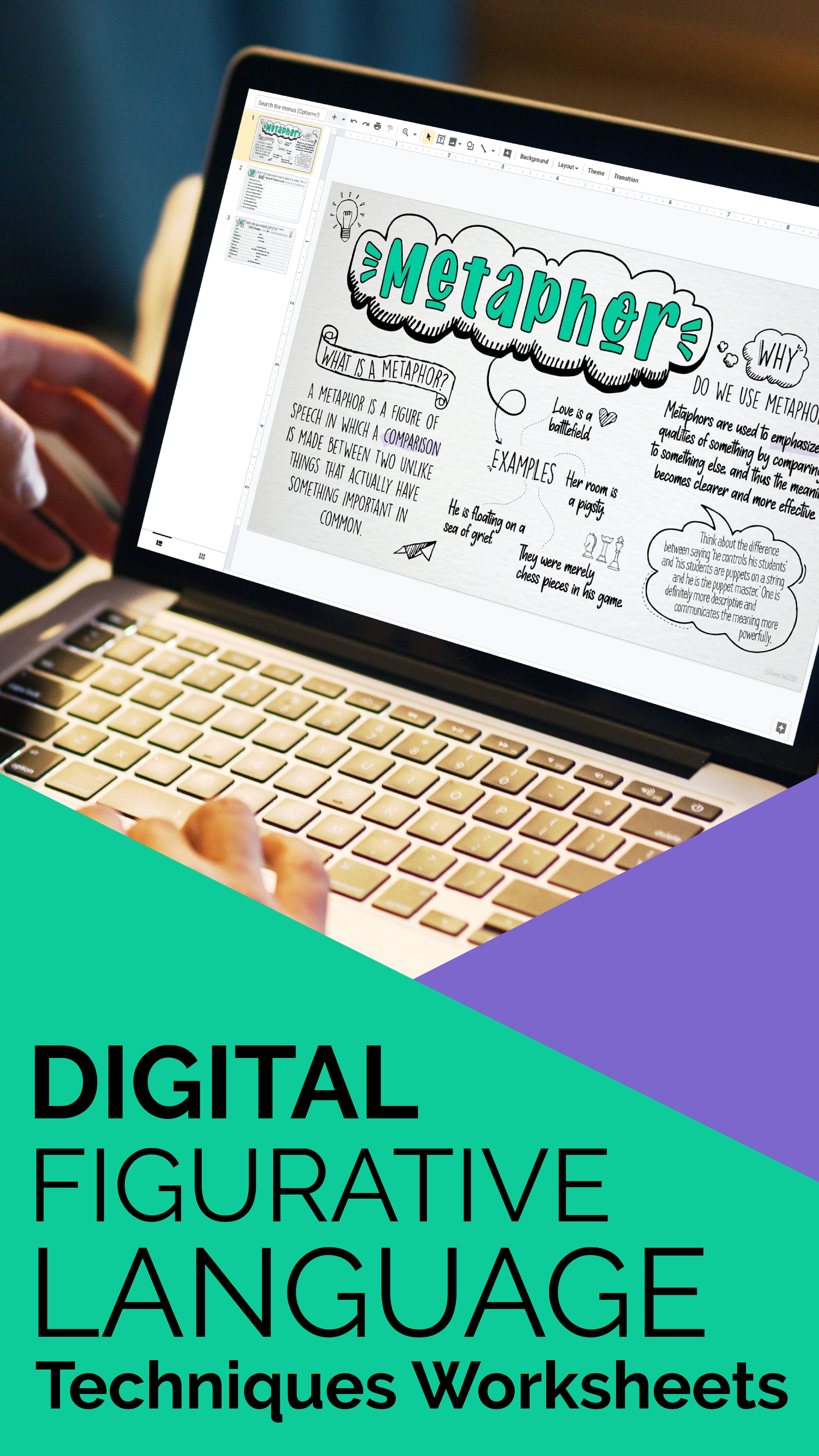 Digital Figurative Language Worksheets In