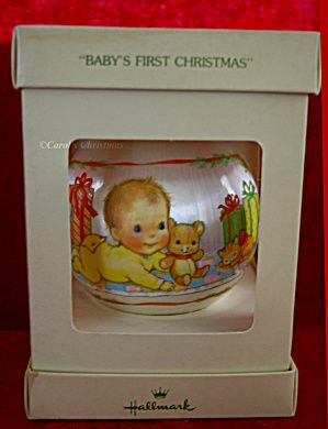 babys first christmas 1st 1978 satin hallmark ornament qx2003 click on the image for more information