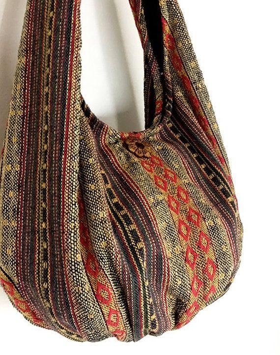 Handmade Woven Bag Handbags Purse Tote Thai Cotton Bag Hippie bag ... a144b0e2c235c