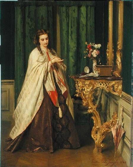 Image: Gustave Leonard de Jonghe - Woman at her Toilet