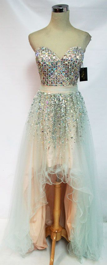 EBAY $198 NWT Glamour by TERANI Couture Seafoam $380 Prom Gown 12 ...