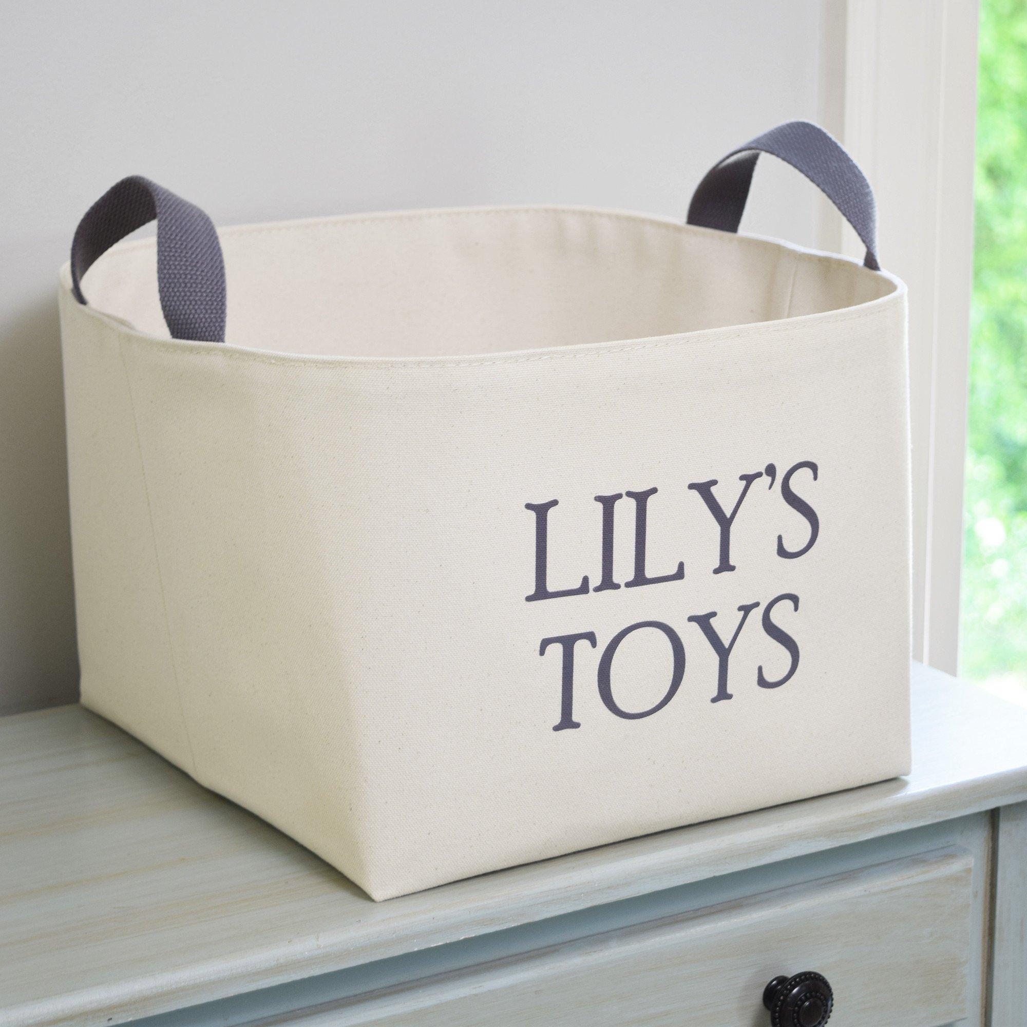 Personalized Canvas Toy Basket Toy Storage Bins Canvas Storage Canvas Toy Storage