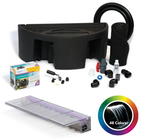 "Atlantic Water Gardens CCKIT24 24"" Color Changing Colorfall Kit - Basing & Pump"