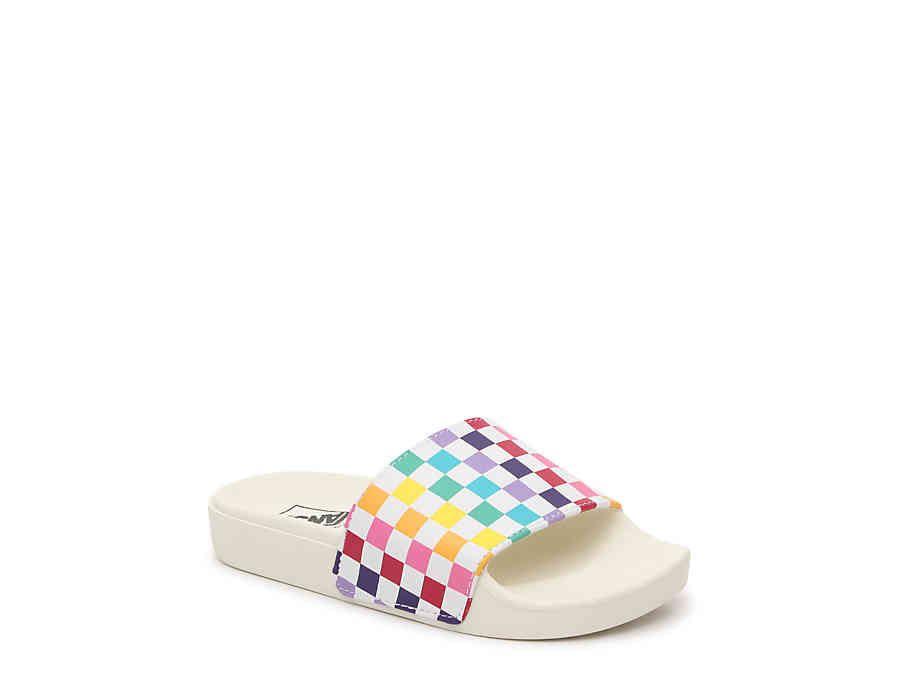 Vans Slide One Jr Check Slide Sandal
