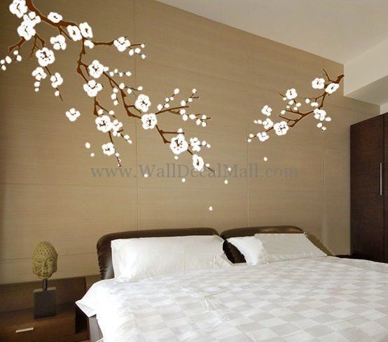 Cherry Blossom Branches Flower Wall Decals   WallDecalMall.com