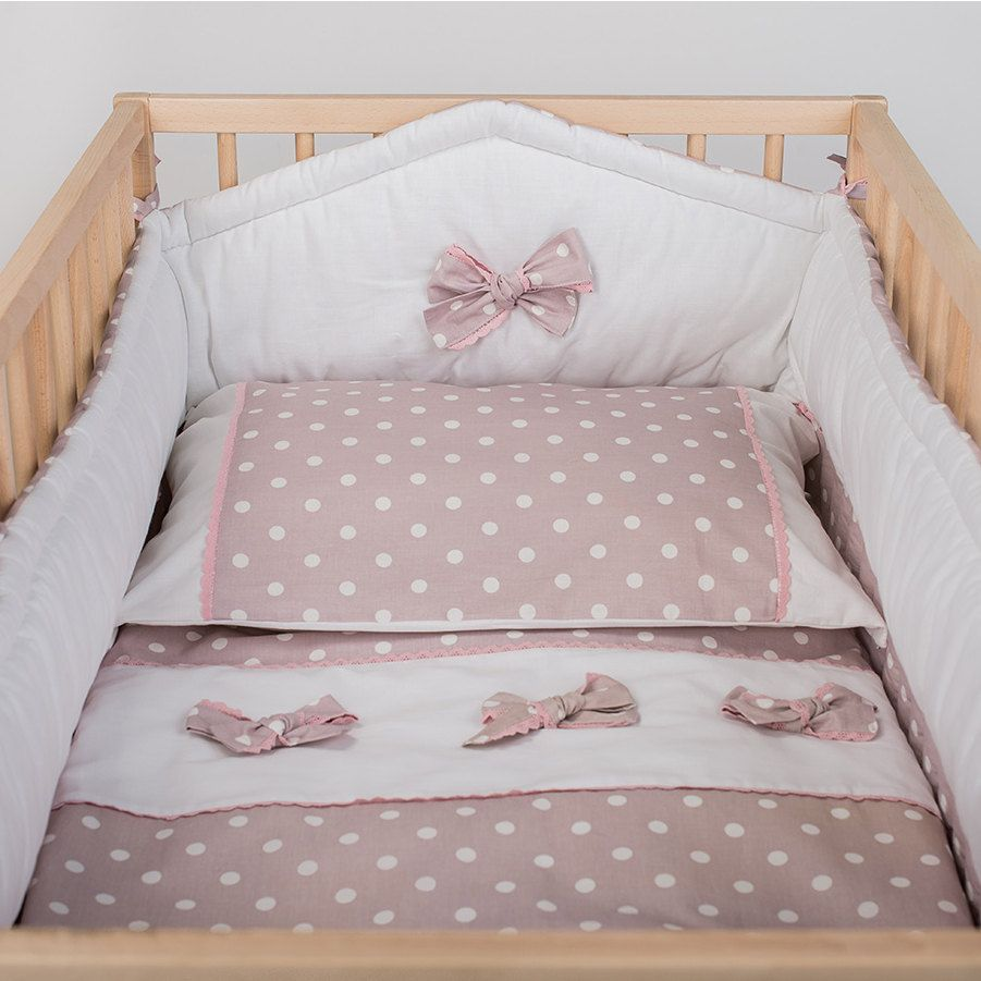 Crib Duvet And Pillow Cover Pink Mist Baby Bedding White With