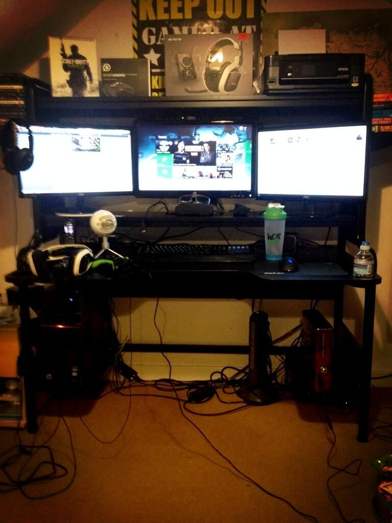 Classic Man Cave Xbox One : Gaming setup dylan s room pinterest