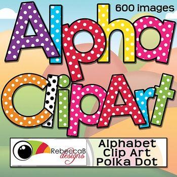 Alphabet Letters Clip Art  Polka Dot Theme Clip Art And Symbols